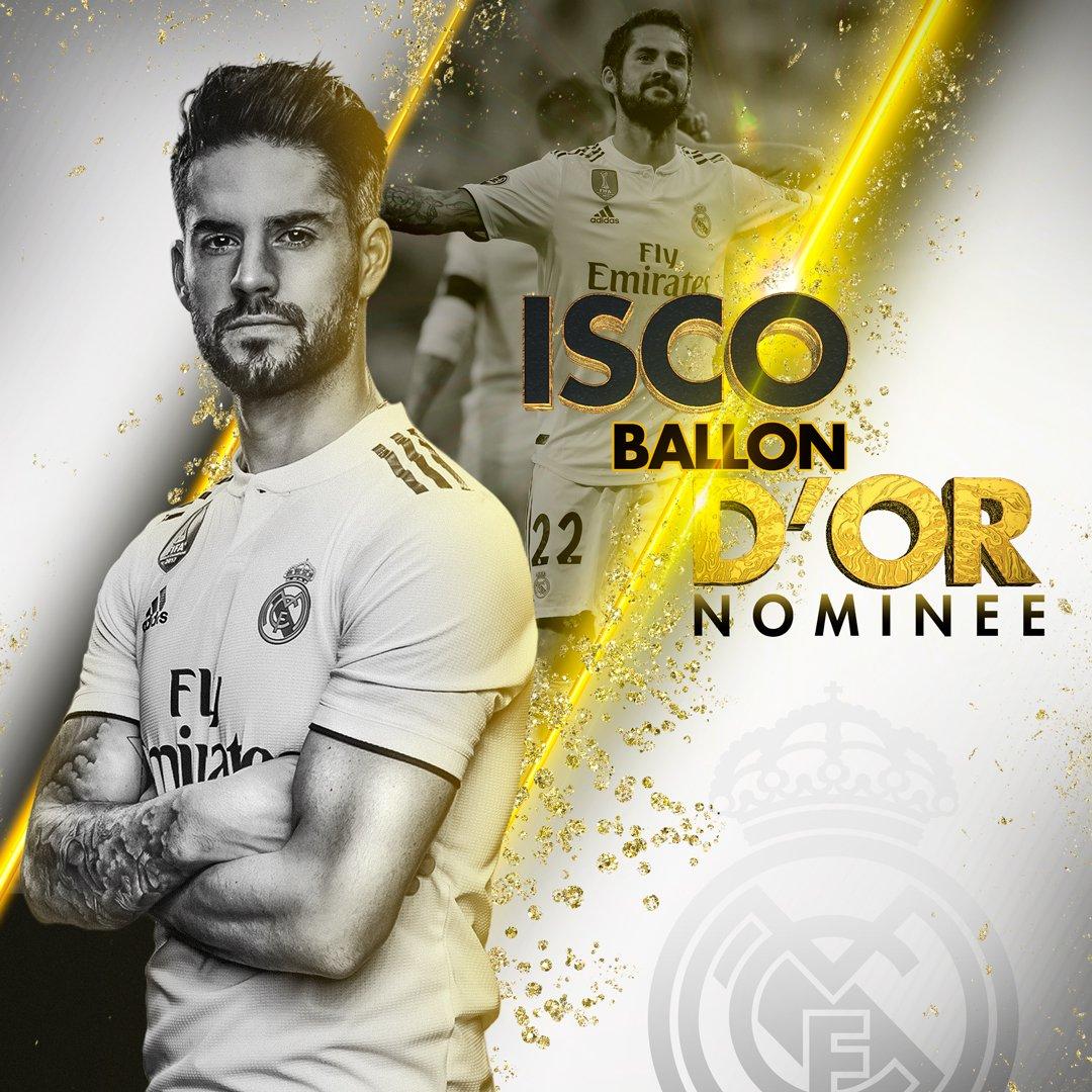 ⚽🏆 BALLON D'OR 2018 NOMINEE 🇪🇸 @isco_alarcon 👏 #HalaMadrid   #ballondor