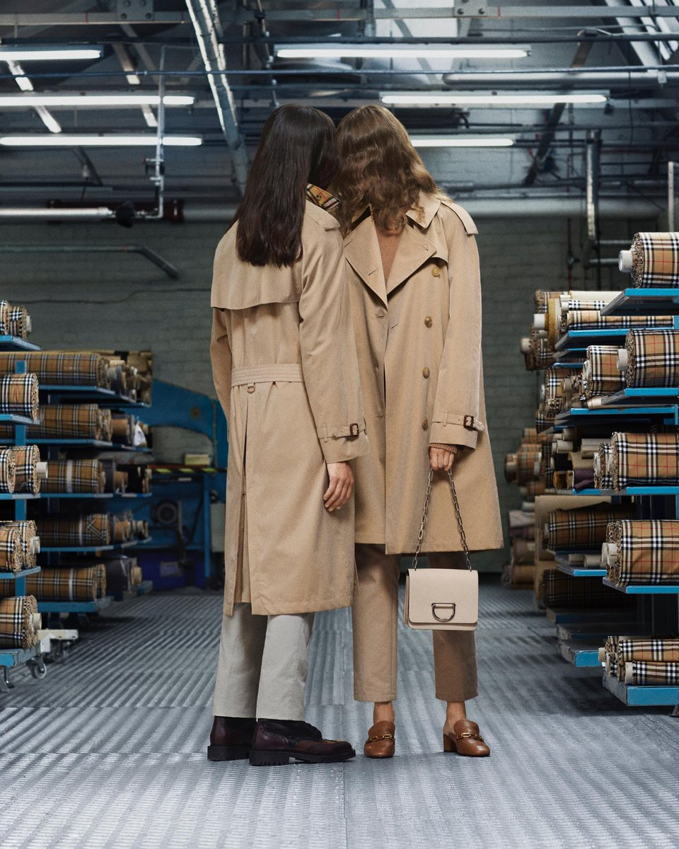 Liam and Celia wear The Westminster in honey. The new Heritage Trench - refined into five new colours and three contemporary fits. Made in Castleford. #BurberryTrench brby.co/79e
