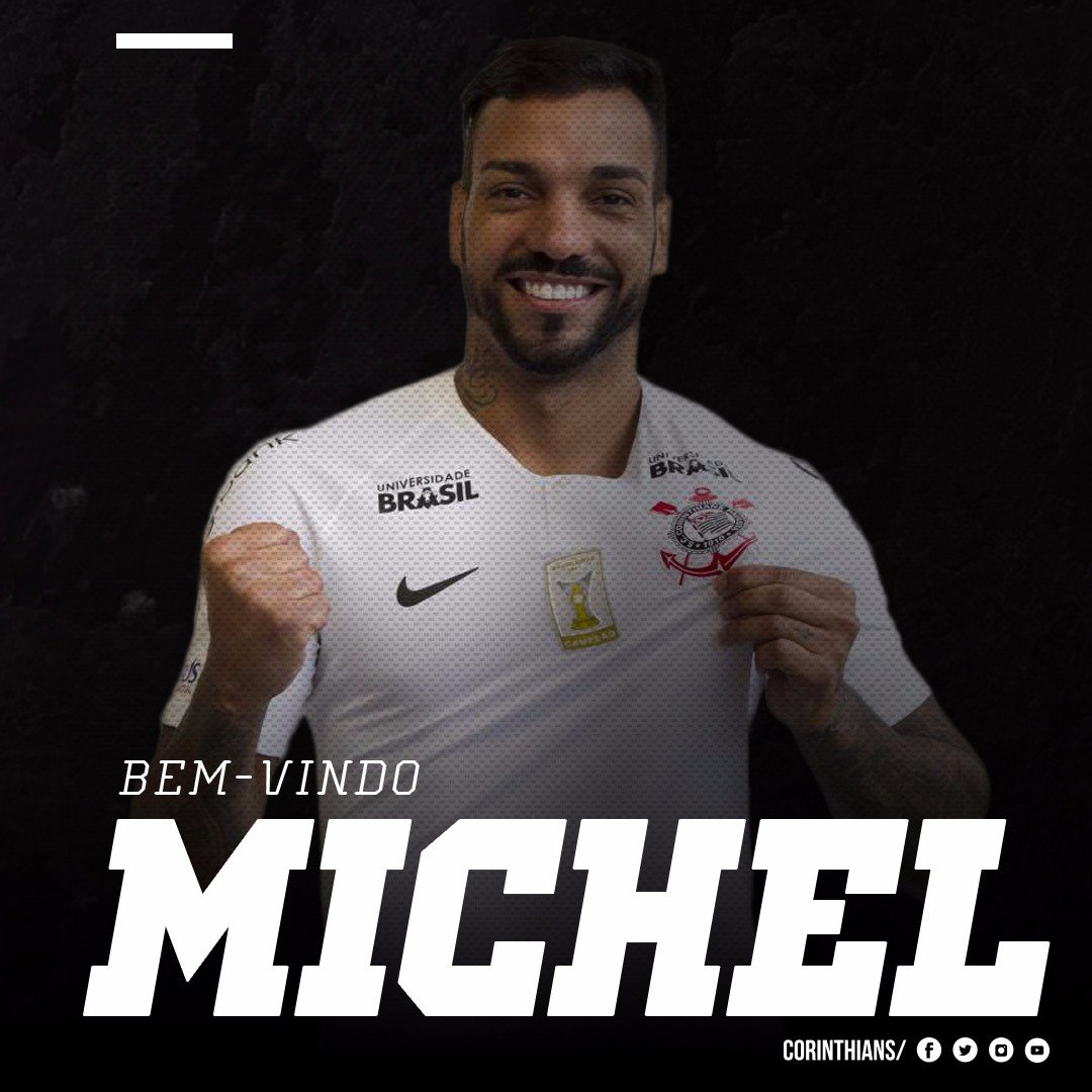 ... o Sport Club Corinthians Paulista anuncia a contração do atleta Michel  Macedo. Ele poderá reforçar a equipe a partir de 2019 e seu contrato tem  validade ... 0bbe620b58fe6