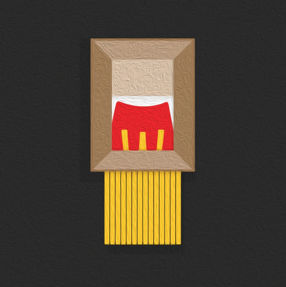 McDonald's take on Banksy's Girl With Balloon trend