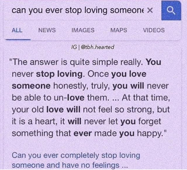 Serraaa On Twitter Can You Ever Stop Loving Someone