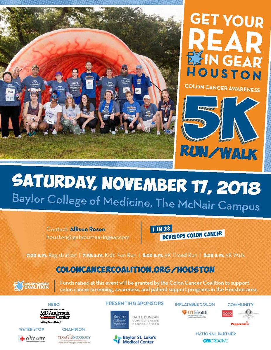 Uzivatel Colon Cancer Coalition Na Twitteru We Re Wrapping Up Our 2018 Gyrig Race Season In Houston Come Run Or Walk With Us As We Raise Colorectalcancer Awareness And Support Screening In The