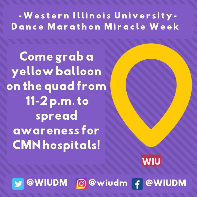 Wiu Dance Marathon On Twitter Monday Come To The Quad Between