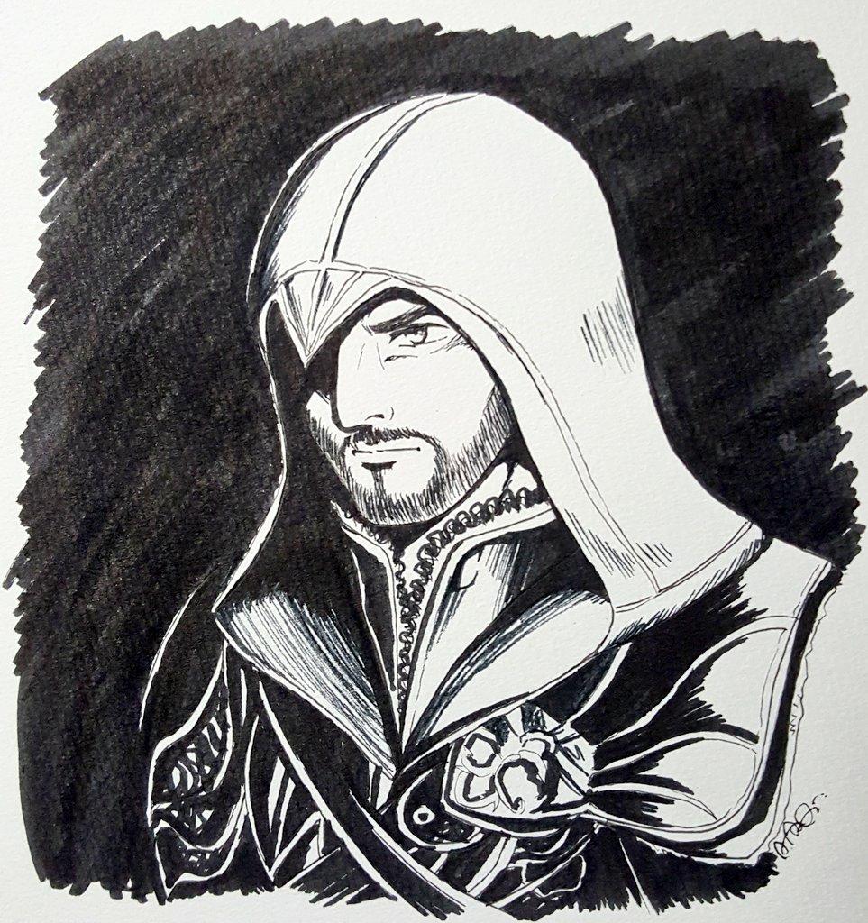 あてな 2 9 い10b 9 8 40 On Twitter Inktober Day 1 Ezio