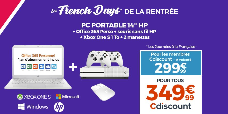Cdiscount On Twitter Frenchdays Pack Pc Portable Hp 14 Xbox