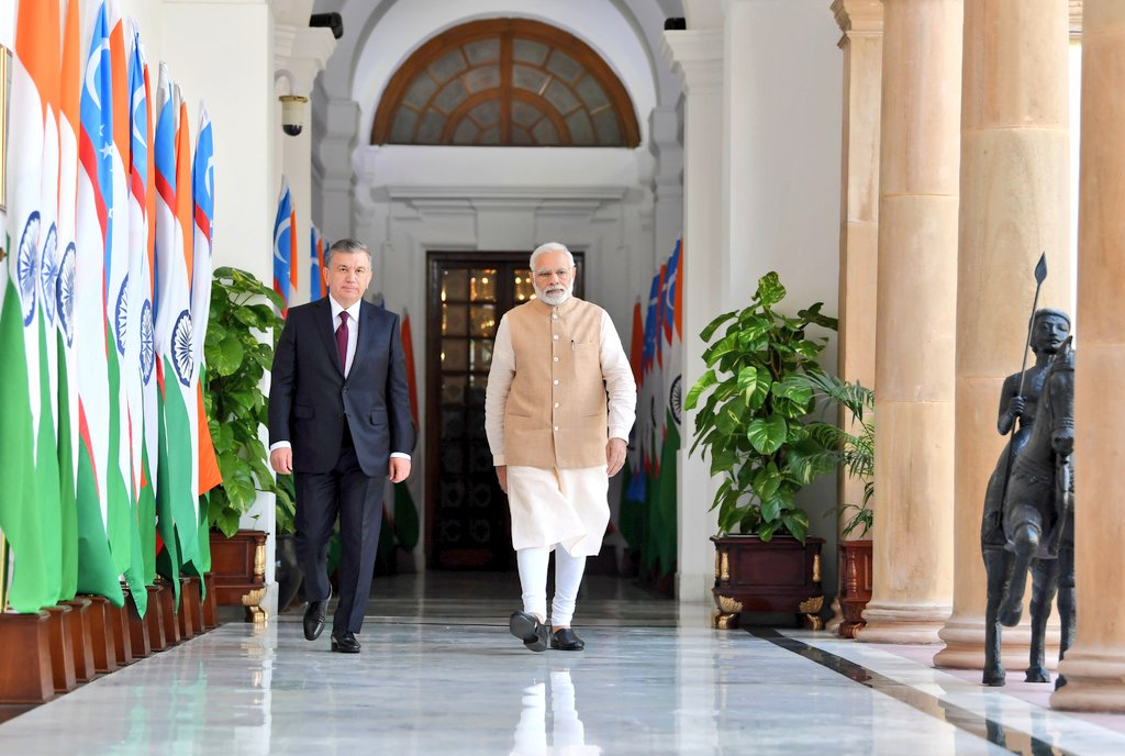 India Uzbekistan Sign 17 Agreements For Cooperation In Security