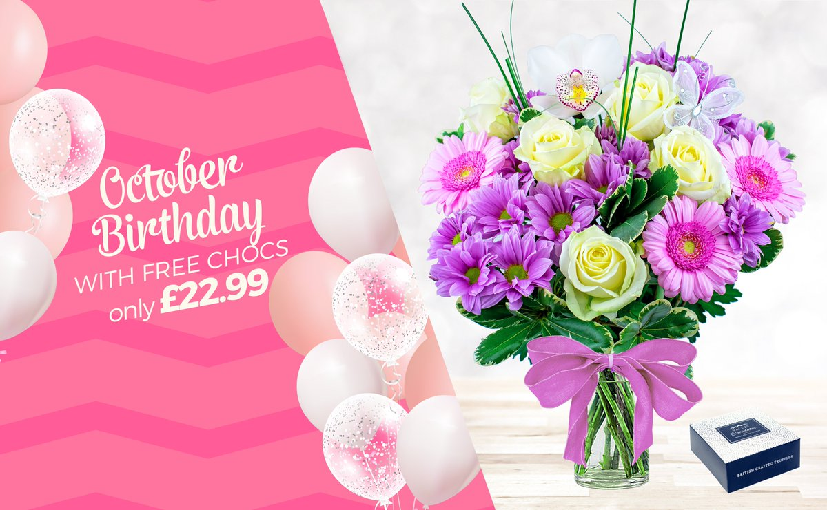 Prestige Flowers On Twitter Our Gorgeous October Birthday Bouquet