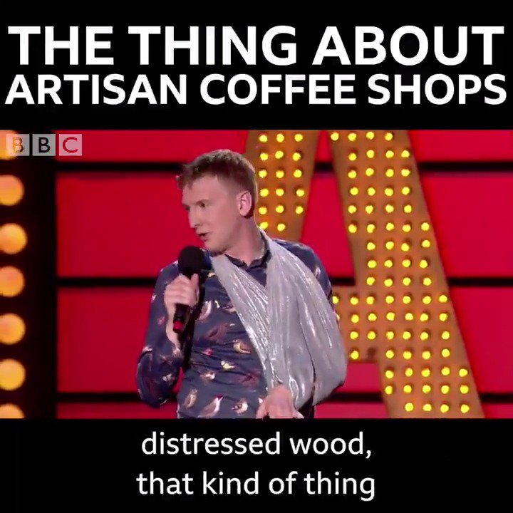 Why @JoeLycett thinks artisan coffee shops are the worst. ☕️😂 #LiveAtTheApollo