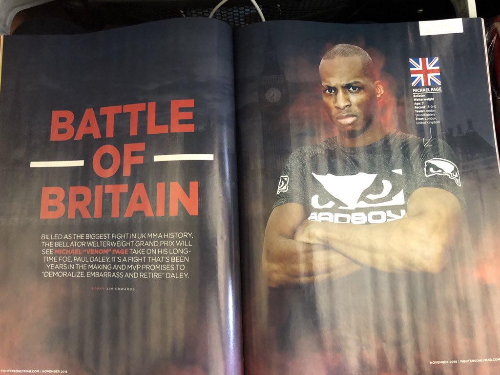 Just picked up the new @FightersOnly featuring my interviews with @Michaelpage247 and @CarlaEsparza1 - in stores now!