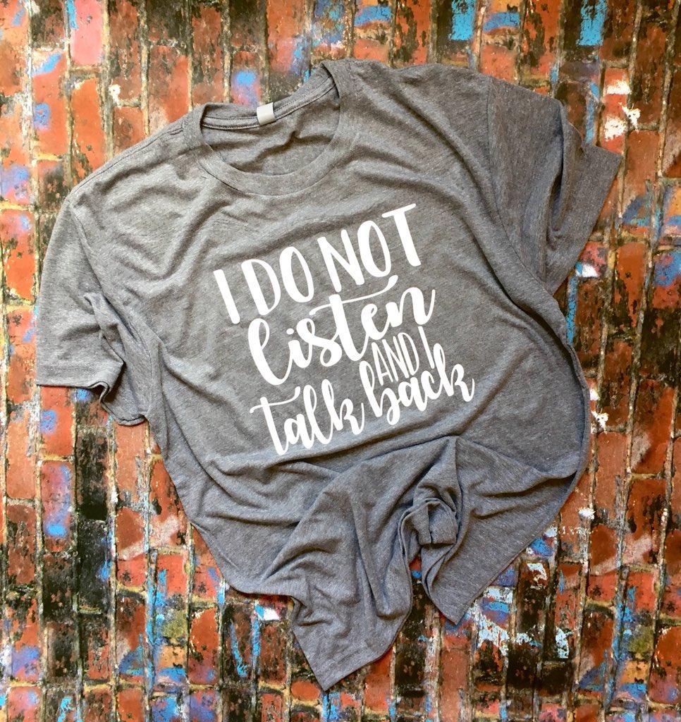 92d6eb55 ... I Talk Back, Sassy Shirts, Womens T-Shirts, Antiqued T-Shirts, Womens Sassy  Shirts, Attitude Tees #clothing #women #tshirt #polycottontees #funnytees  ...