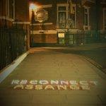 Last night at the Ecuadorian Embassy in London - Restore #HumanRights of #WikiLeaks Founder @JulianAssange - Respect @UN decision and end arbitrary detention! #ReconnectJulian #FreeAssange #FreePassage #Unity4J @AssangeMrs @Suzi3D - Thanks 4 support @greekemmy & @JoanneMorrison1