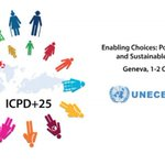 Image for the Tweet beginning: Proudly participating in #ICPD25 UNECE