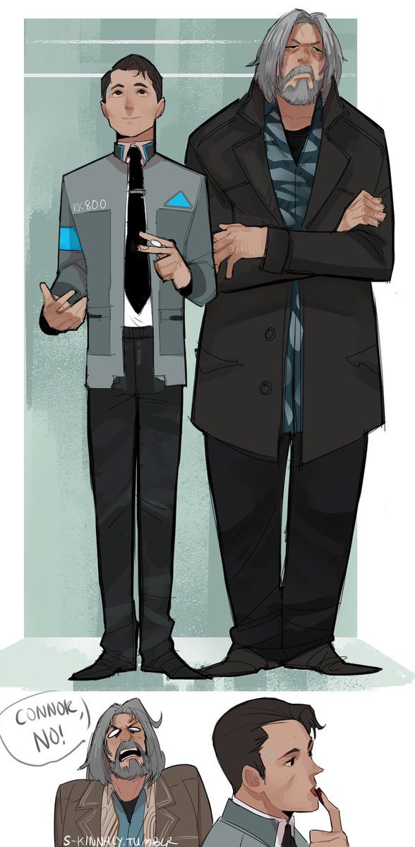 Doodle of Hank and Connor~ #DetroitBecomeHuman #fanart #HankCon #art #doodle