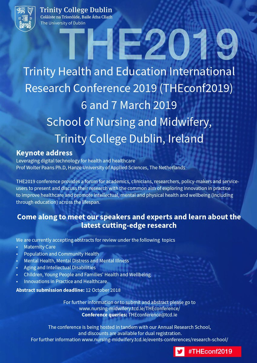 TCD_nursingmidwifery on Twitter: