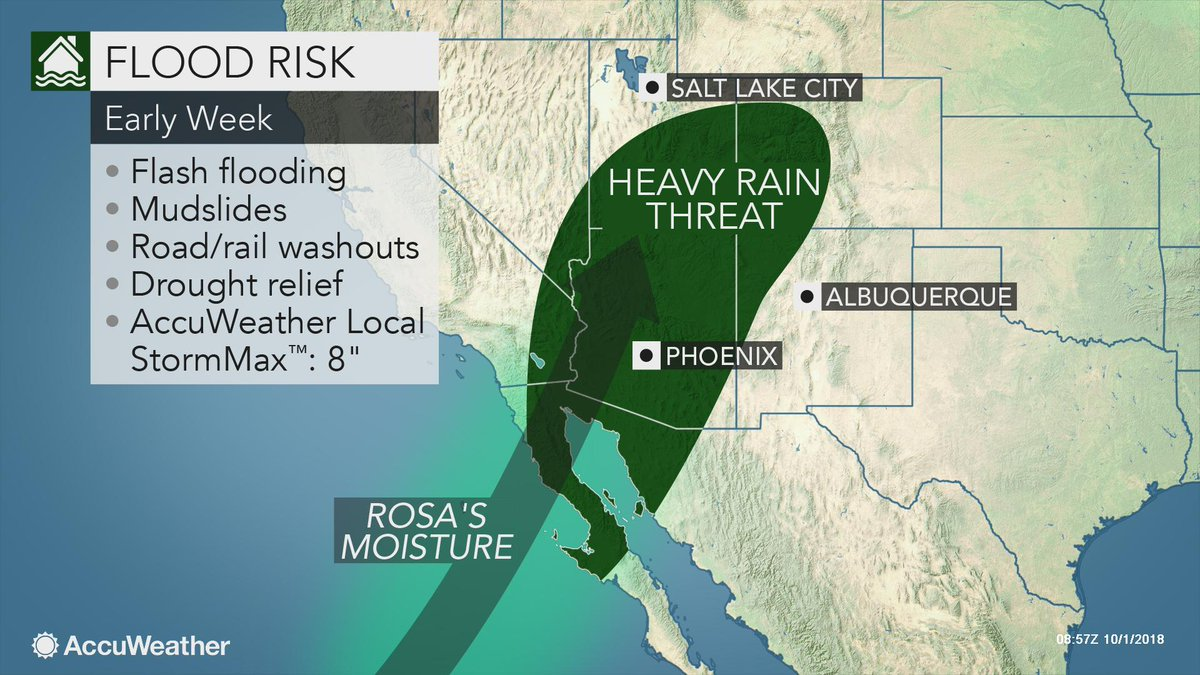 Tropical Depression Rosa threatens Southwest with flooding