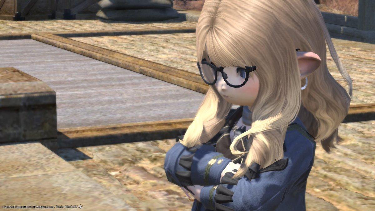 ララだってメガネをかけたら、お姉さんらしくなるんだから! メガネは魔法のアイテムなのさっ( ˘ω˘ ) 目指せ!お姉さんララフェル!٩( \u0027ω\u0027 )و  FF14メガネファッション