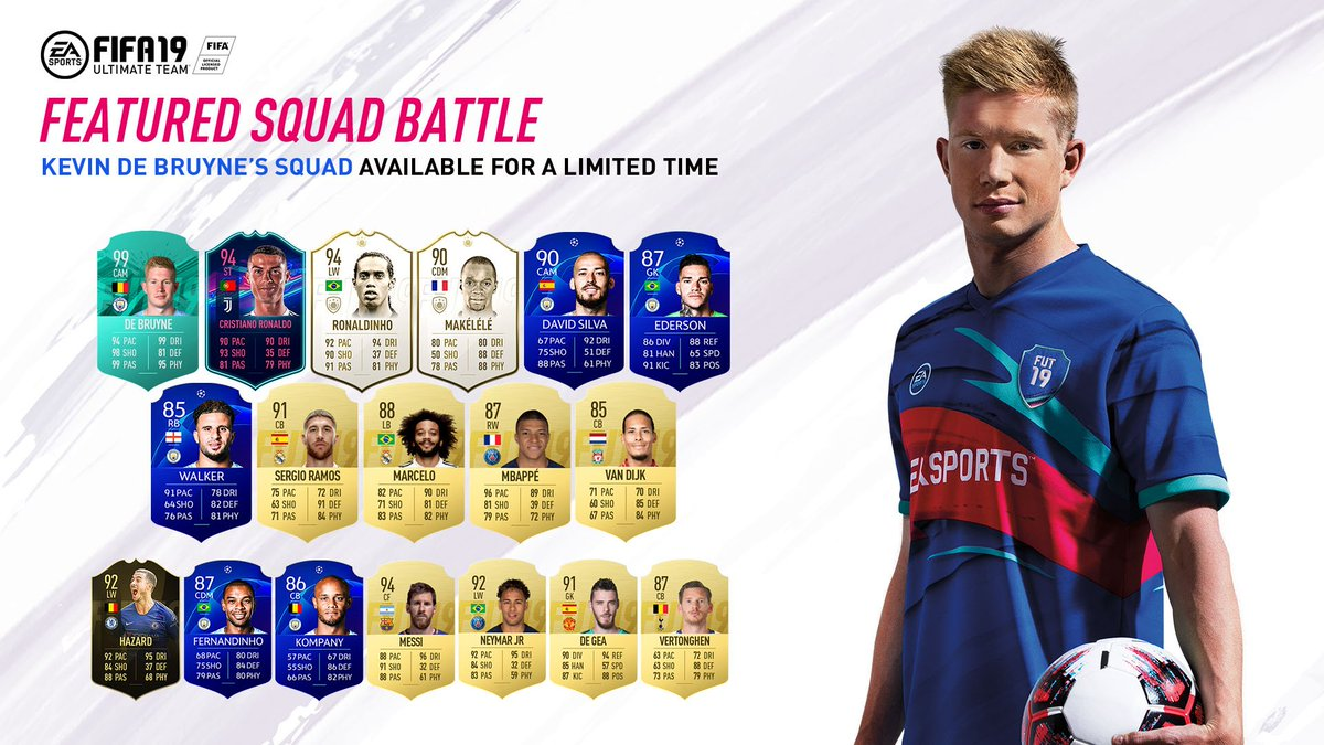 Think you can beat my #FIFA19 squad? 🤔 Play it now in @EASPORTSFIFA Ultimate Team!