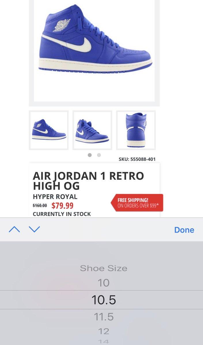 79.99 + free shipping Jordan Retro 1  Hyper Royal  https   bit.ly 2KqDzUL  S o  pcMekanikpic.twitter.com JoctnwY42A 9de7970a9