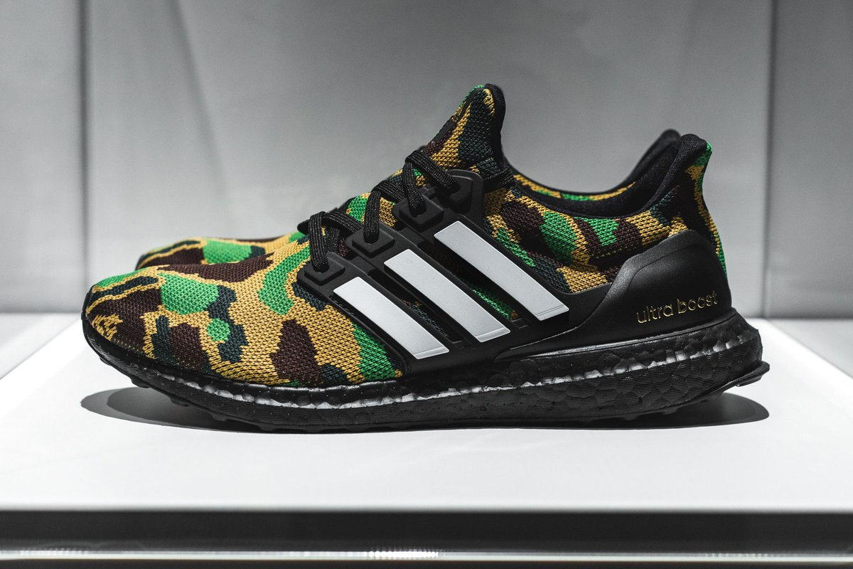 85765067e25cd Who s hyped for the BAPE x adidas Ultra Boost !  https   thesolesupplier.co.uk news closer-look-bape-x-adidas-ultra-boost   …pic.twitter.com v8lgnJE7oF