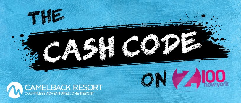 #Z100CashCode is your chance to win 🤑 $1,000 🤑 thanks to @CamelbackLodge  💰💰💰 How to win: https://t.co/LCFqNNCIju
