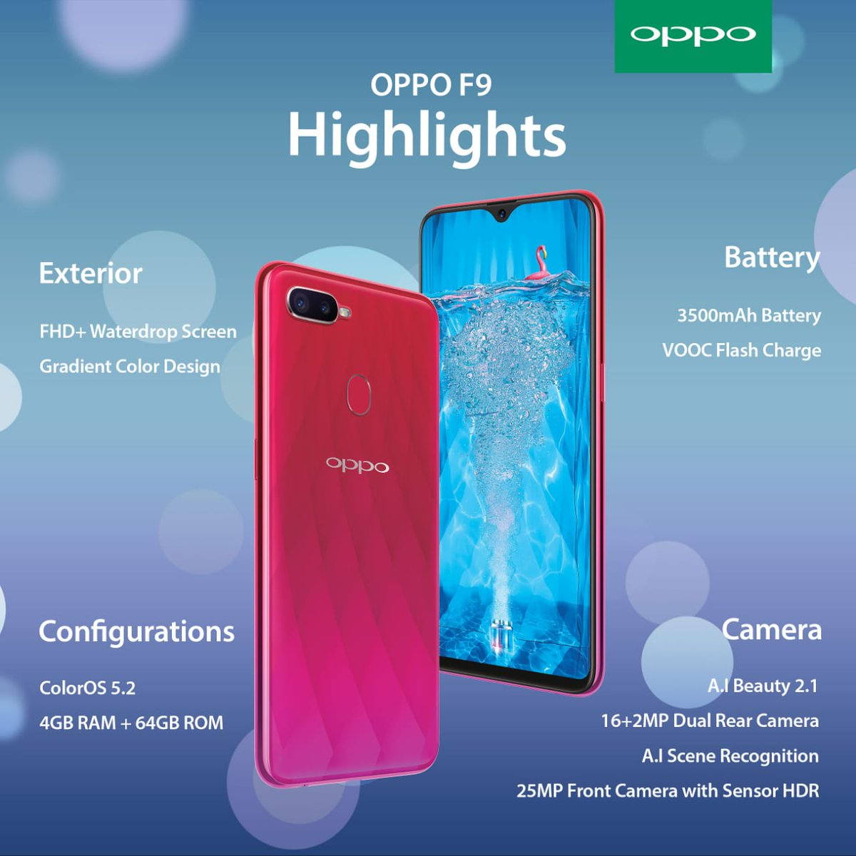 Kirutit Rono On Twitter Oppo F9 Is Powered By A 3500mah Battery Blue Ram 4gb 64gb 1 Reply 7 Retweets 3 Likes