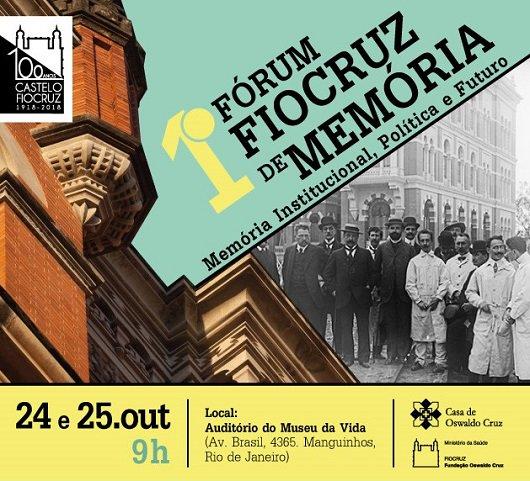 Casa de Oswaldo Cruz @fiocruz promove 1º Fórum Fiocruz de Memória https://t.co/68rBWwL5c8