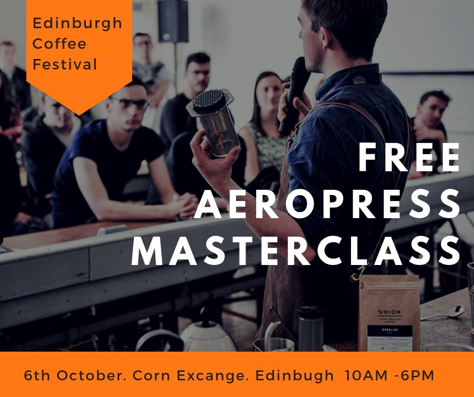 Edin Coffee Fest On Twitter Learn To Make An Aeropress In