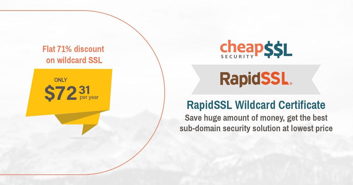 Cheapsslsecurity On Twitter Rapidssl Wildcard Certificate Https