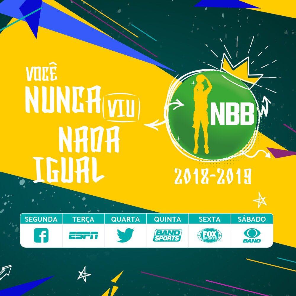 Grade semanal das transmissões do NBB