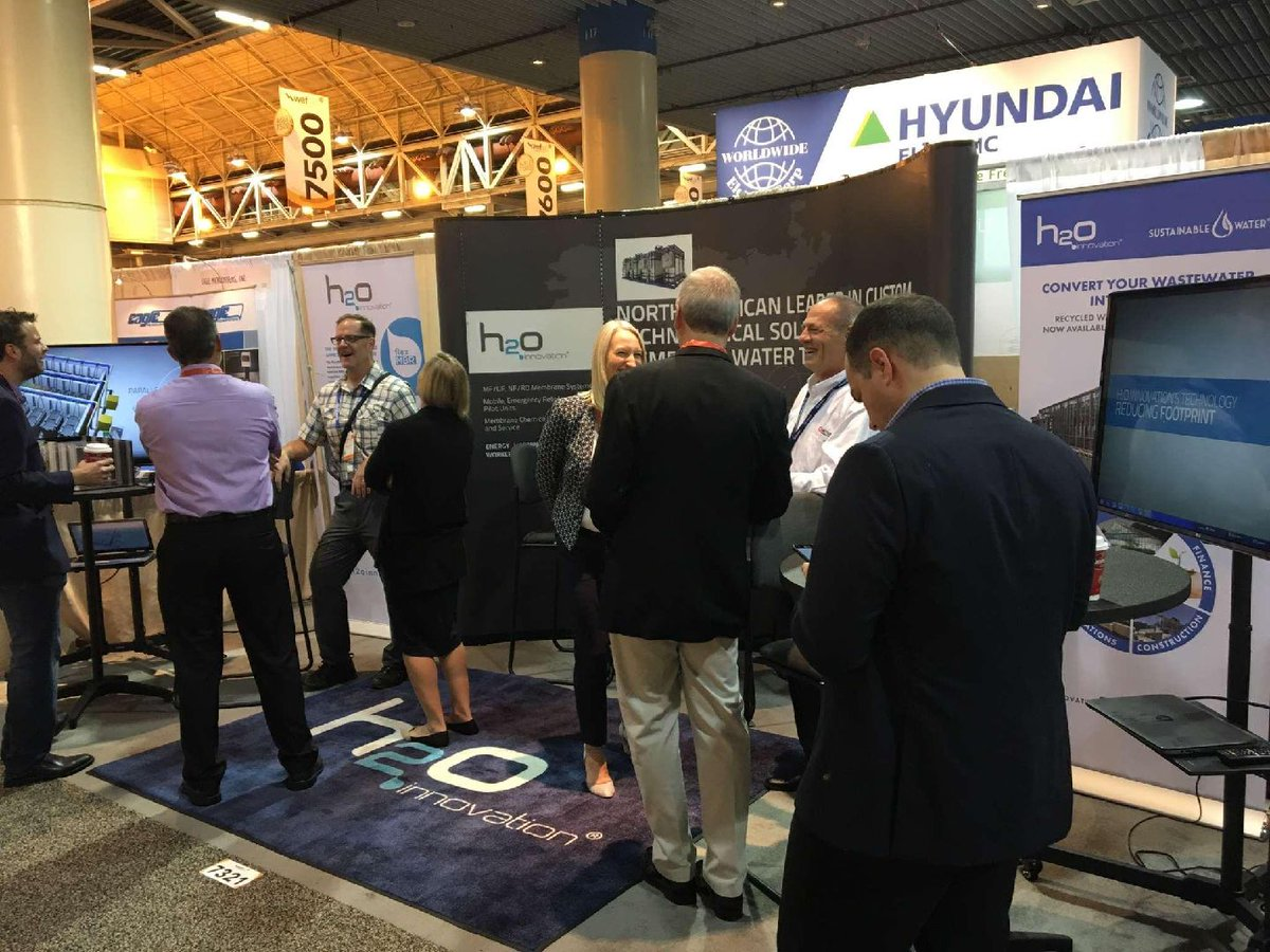 h2o innovation on twitter we are live and direct from weftec 2018