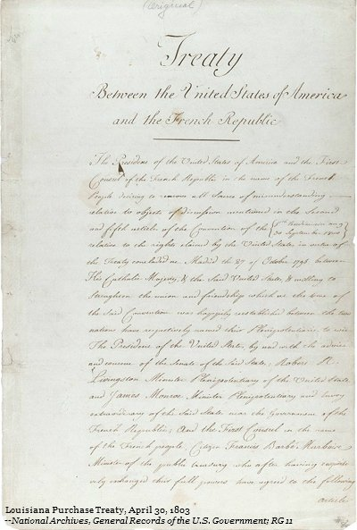 The #Senate approved the Louisiana Purchase Treaty for ratification #OTD in 1801 https://t.co/cqV6yZnvkV