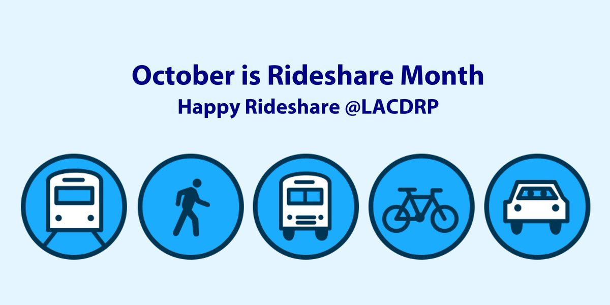 What Is Rideshare >> La County Planning On Twitter October Is Rideshare Month