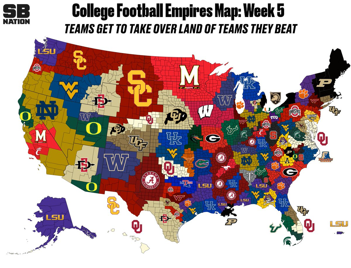 No new territory for Kentucky in CFB Empires Map | Kentucky Sports Radio