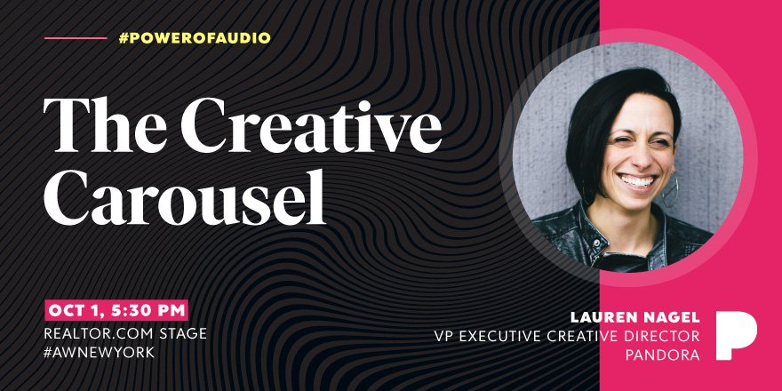 Get creative in our roundtable with VP Executive Creative Director @lolaNagel in 30 minutes #AWNewYork #powerofaudio