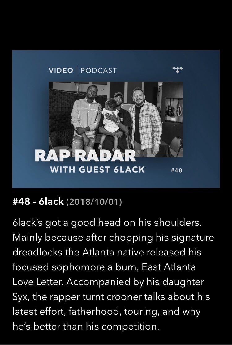 we back with @6LACK! #RapRadarPodcast https://t.co/Ygoy4Z52yR https://t.co/ioZBi6jrk8