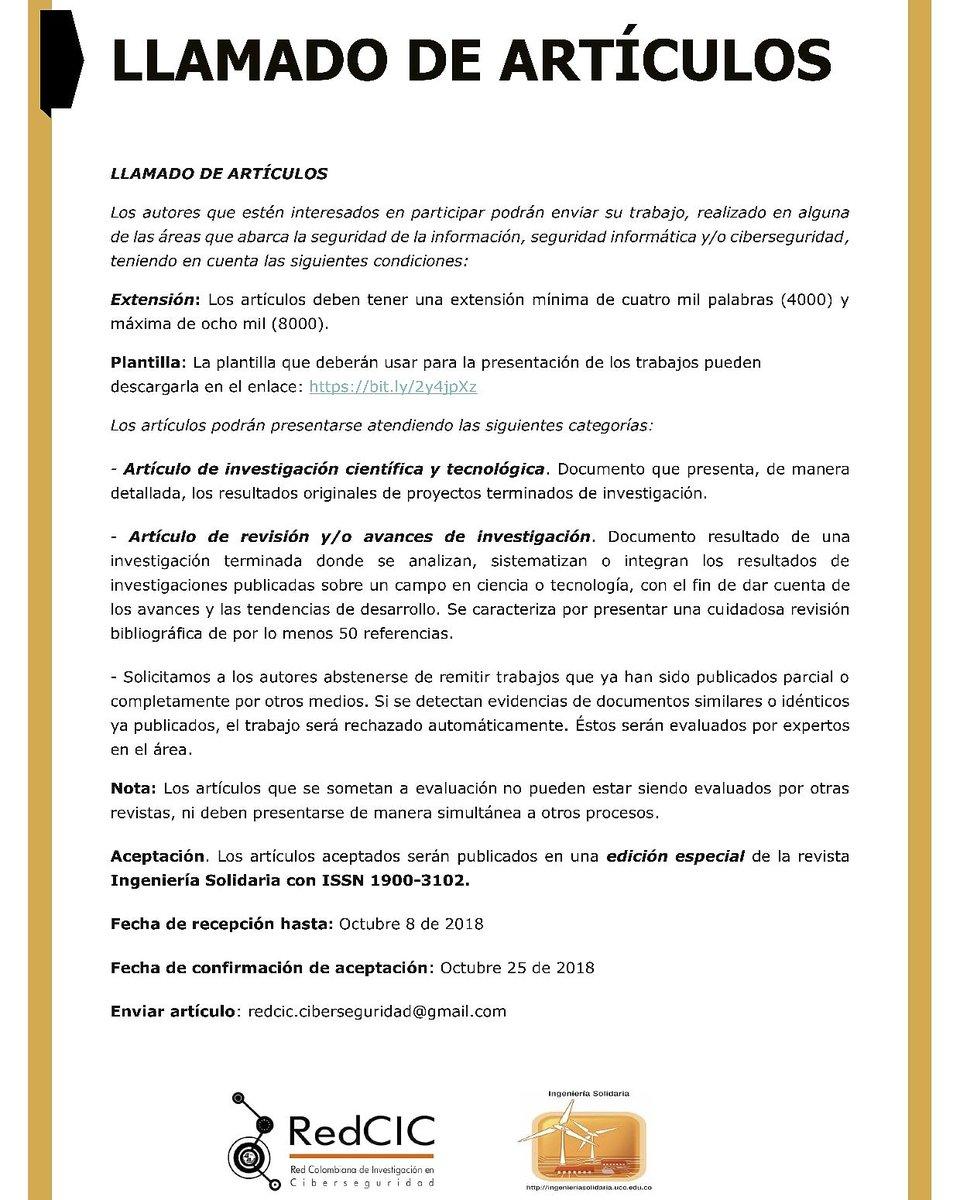 Red Colombiana de Investigación en Ciberseguridad (@RedCIC)   Twitter