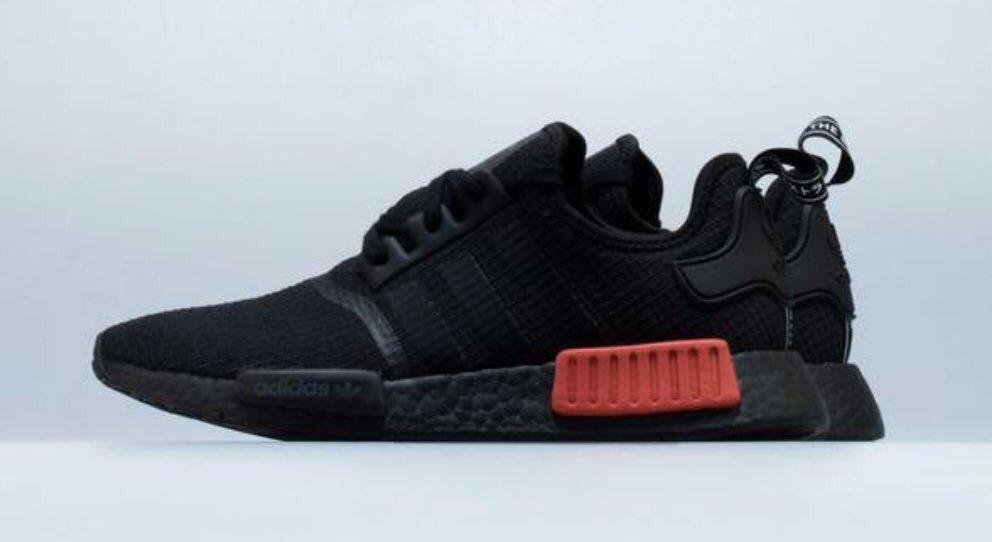 Shopnicekicks Com On Twitter Adidas Nmd R1 Mens Shoe Black Red