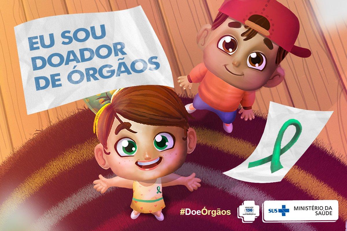 Já conferiu a campanha de Doação de Órgãos do @minsaude? Assista! Saiba mais: https://t.co/9TbFtPvZId. Espalhe amor. #DoeÓrgãos