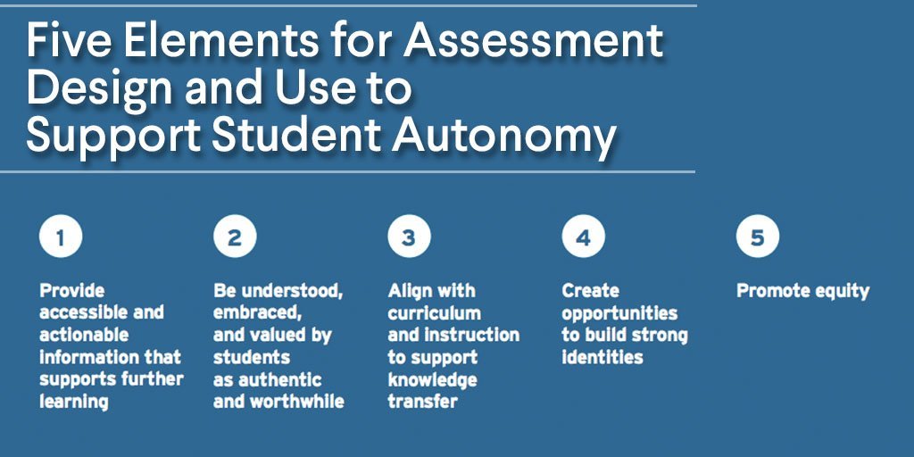 Including Nglcs Andrewcalkins Https Www Nextgenlearning Org Resources Five Elements For Essment Design And Use To Support Student Autonomy