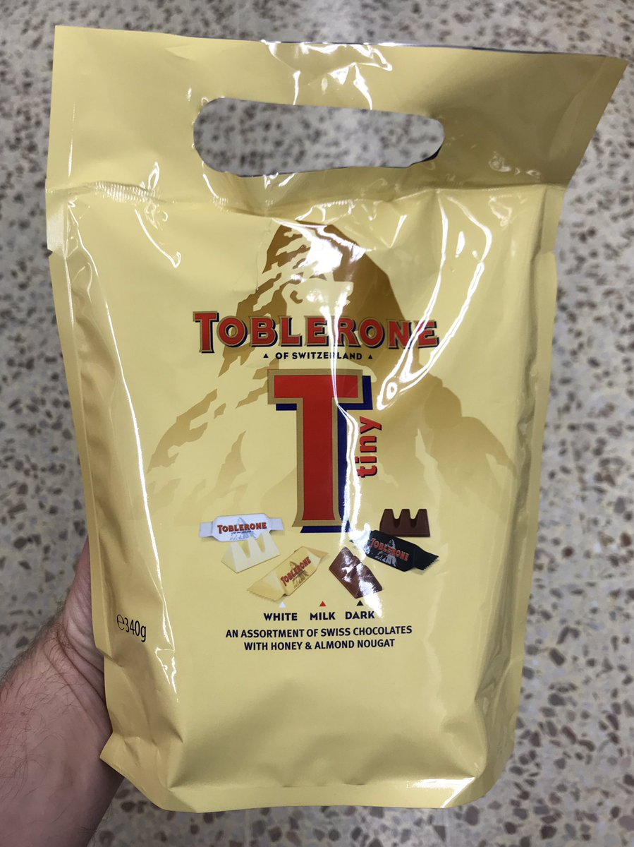 Well This Is New On Twitter Big Bag Of Tiny Toblerone