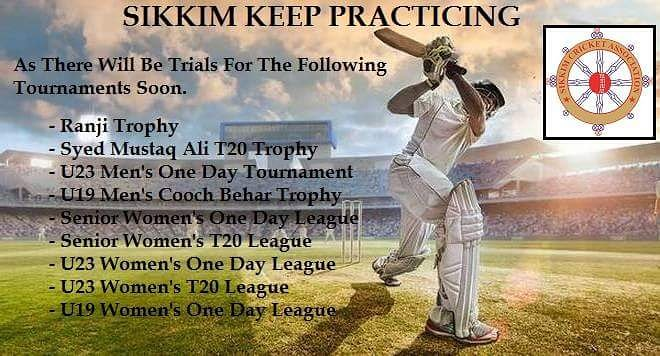 Please follow us for the dates.  #CricketInSikkim #SikkimCricketAssociation #Cricket  #crickettrials #CricketCamp #MiningCricketGround #Sikkim #IndianDomesticLeague #CricketInIndia #NortheastIndia