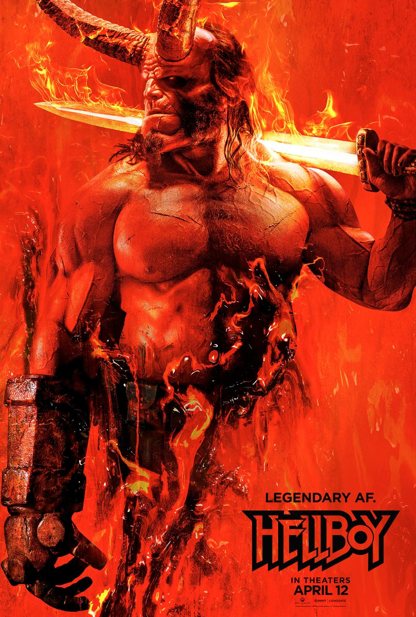 🔥🔥🔥 first poster for #Hellboy
