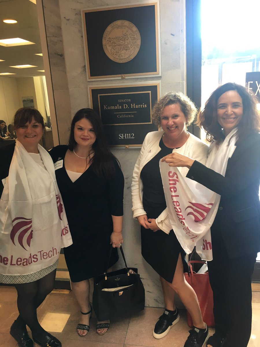 #SheLeadsTech met with @KamalaHarris staff to discuss #cybersecurity, #criticalinfrastructre and #workforce. Great day in DC. #ISACA @ISACANews