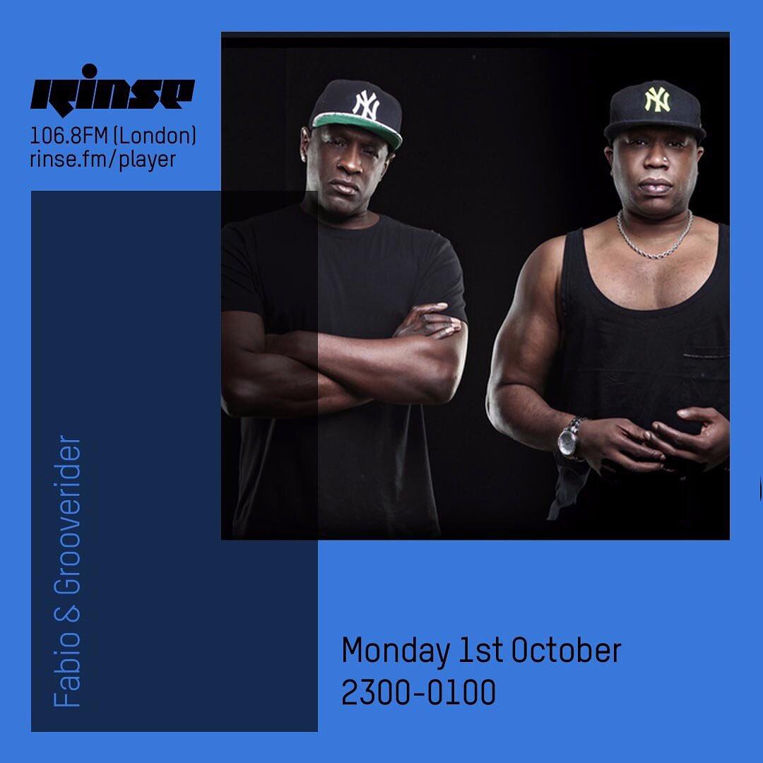 Tonight @RinseFM 💥👌🏿
