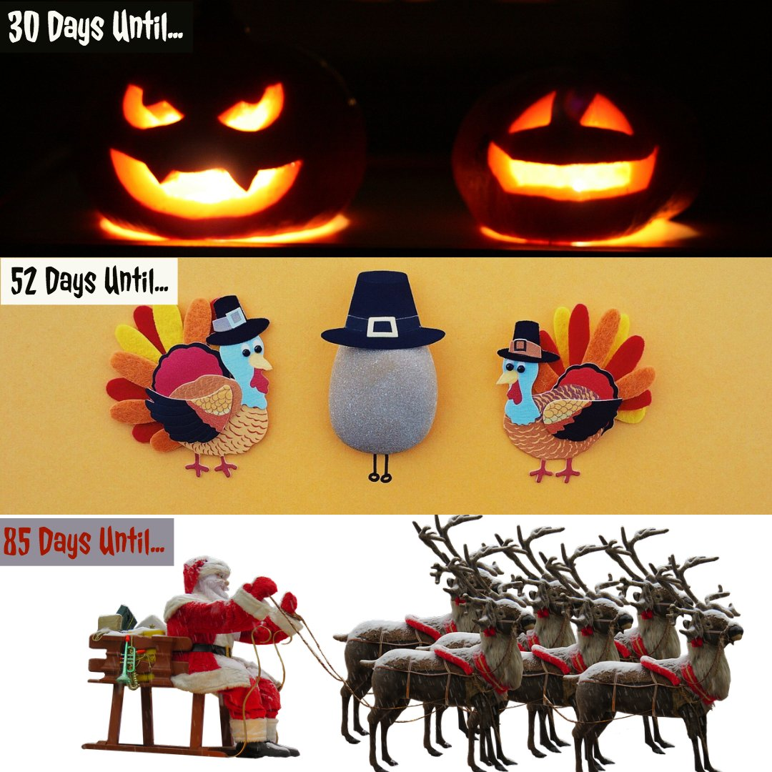 Halloween Thanksgiving Christmas Countdown.A Gift Inside On Twitter Let The Countdown Begin What Is