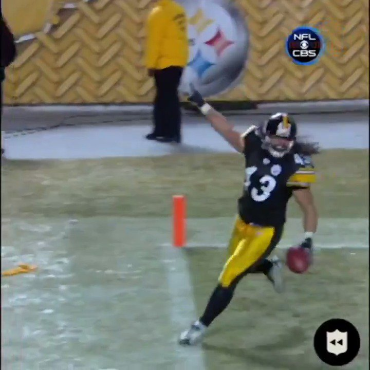 12 years ago today we witnessed the pick-6 by Steelers S Troy Polamalu (@tpolamalu) against the Ravens in the AFC Championship game at Heinz Field on Jan. 18, 2009. 🐐