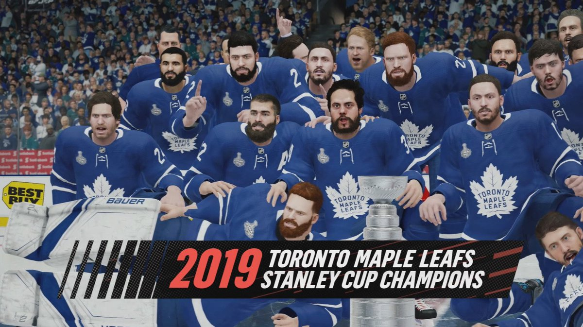 EA Sports NHL 19 Stanley Cup Toronto
