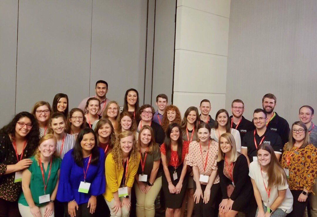 DPT students from around the state gathered together for the Student SIG meeting during #oPTimize2018. Special thanks to UCA DPT student Patrick Ameling for serving as the ArPTA Student SIG Chair & helping plan student activities for oPTimize.