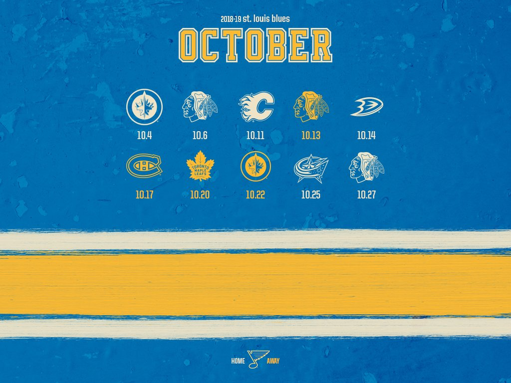St Louis Blues On Twitter Anyone Need Some New Schedule