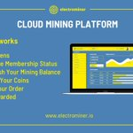 Image for the Tweet beginning: Using the Electrominer Cloud Mining